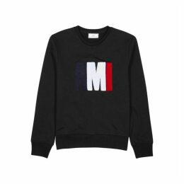 AMI Black Logo-appliquéd Cotton Sweatshirt