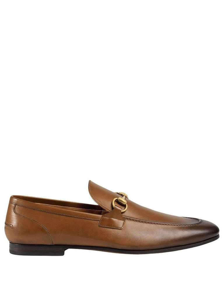 Gucci Gucci Jordaan leather loafer - Brown