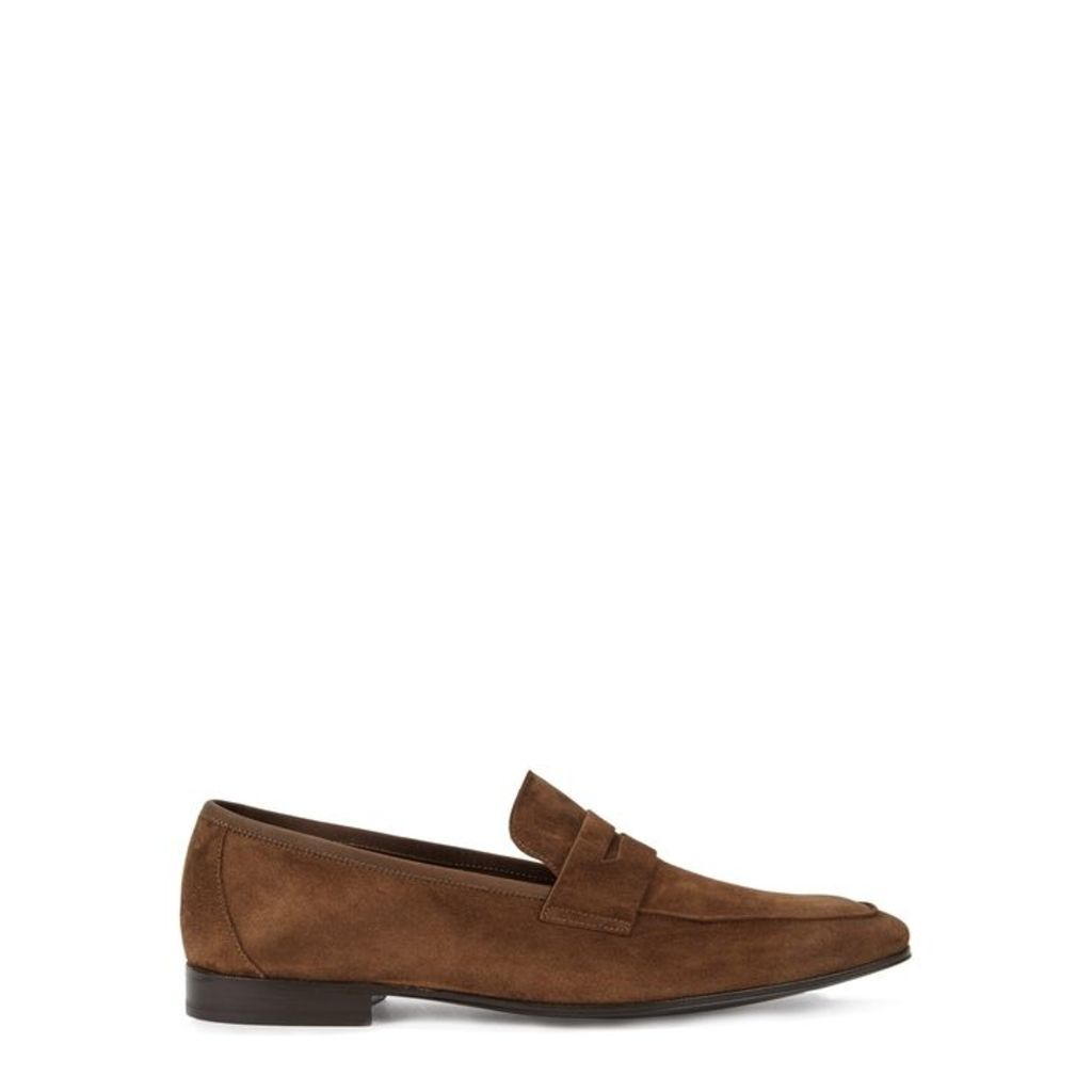 Paul Smith Glynn Brown Suede Loafers