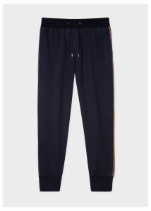 Men's Dark Navy 'Artist Stripe' Wool Sweatpants