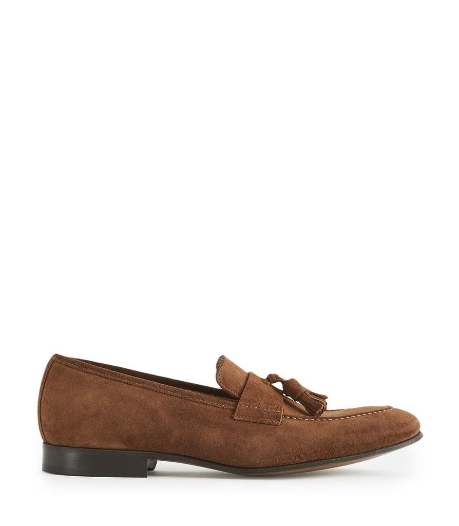 061e706cb53 Reiss Thorpe - Suede Tassel Loafers in Tan