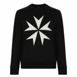 Neil Barrett Star Crew Neck Sweatshirt