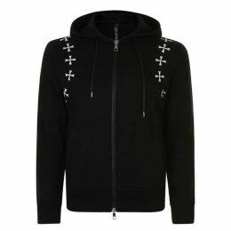 Neil Barrett Star Hooded Zip Jacket
