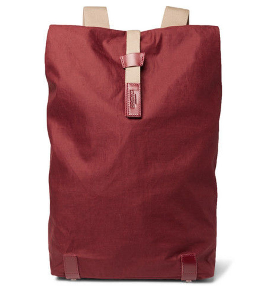 Brooks England - Pickwick Large Coated-canvas Backpack - Red