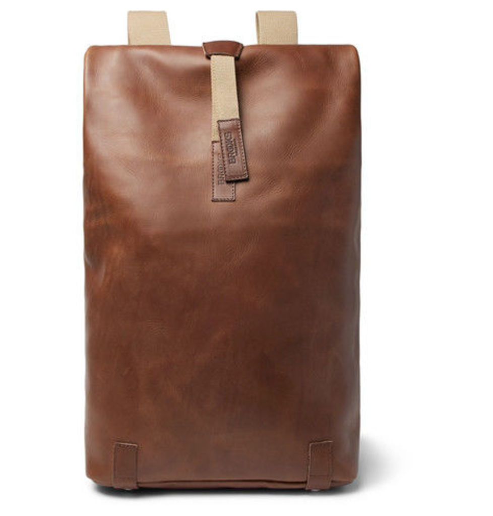 Brooks England - Pickwick Large Leather Backpack - Light brown