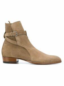 Saint Laurent Wyatt 30 Jodhpur boots - Neutrals