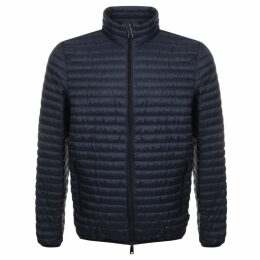 Emporio Armani Quilted Down Jacket Navy