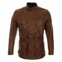 Belstaff Panther Leather Jacket Cognac Tan