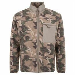 Penfield Natrick Fleece Full Zip Sweatshirt Brown
