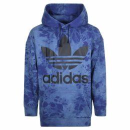 Adidas Originals Oversized Tie Dye Hoodie Blue