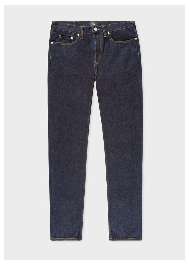 Men's Classic-Fit Indigo-Rinse 14oz 'Organic Pepper 'N' Salt' Jeans