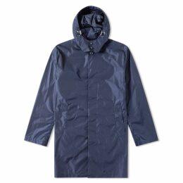 Mackintosh Hooded Nylon Mac Navy