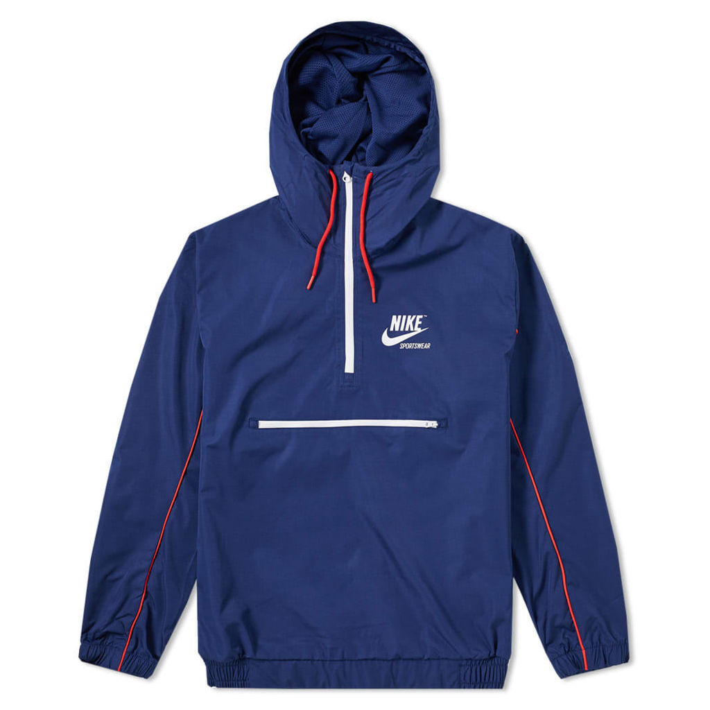 Nike Archive Hooded Jacket Binary Blue, Red & White