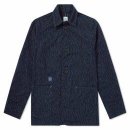 Post Overalls Post 40 Dobby Overshirt Jacket Indigo