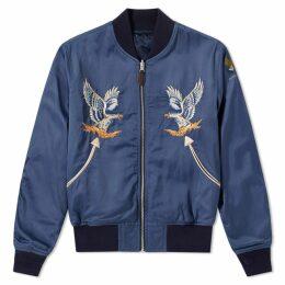 RRL Reversible Souvenir Jacket Tiger Stripe & Camo Blue