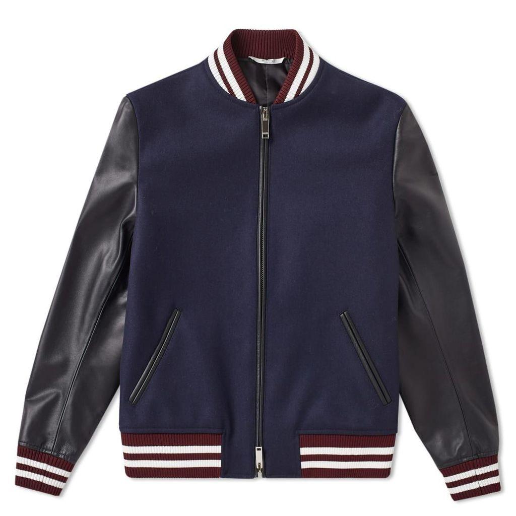 Valentino Panther Varsity Jacket Navy & Black
