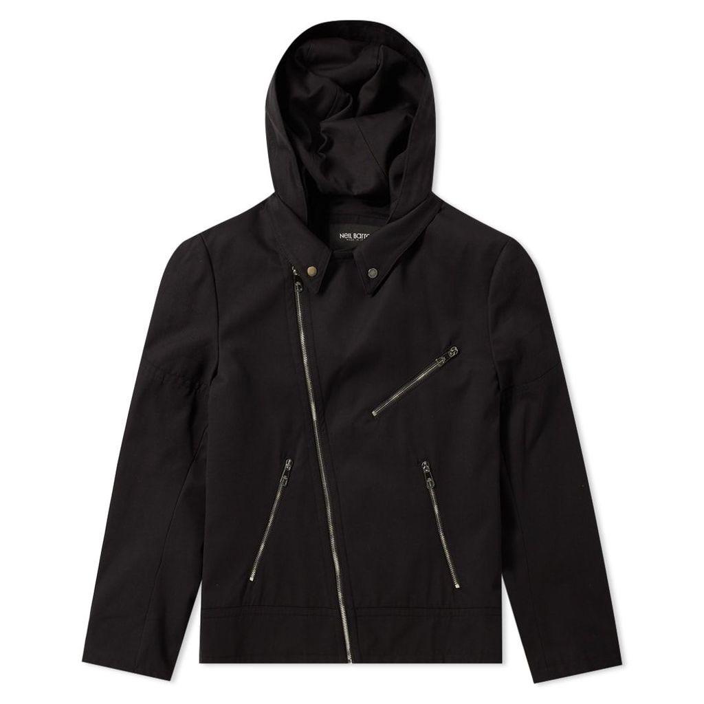 Neil Barrett Zip Hooded Biker Jacket Black