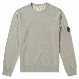 C.P. Company Garment Dyed Light Fleece Arm Lens Sweat Grey Melange
