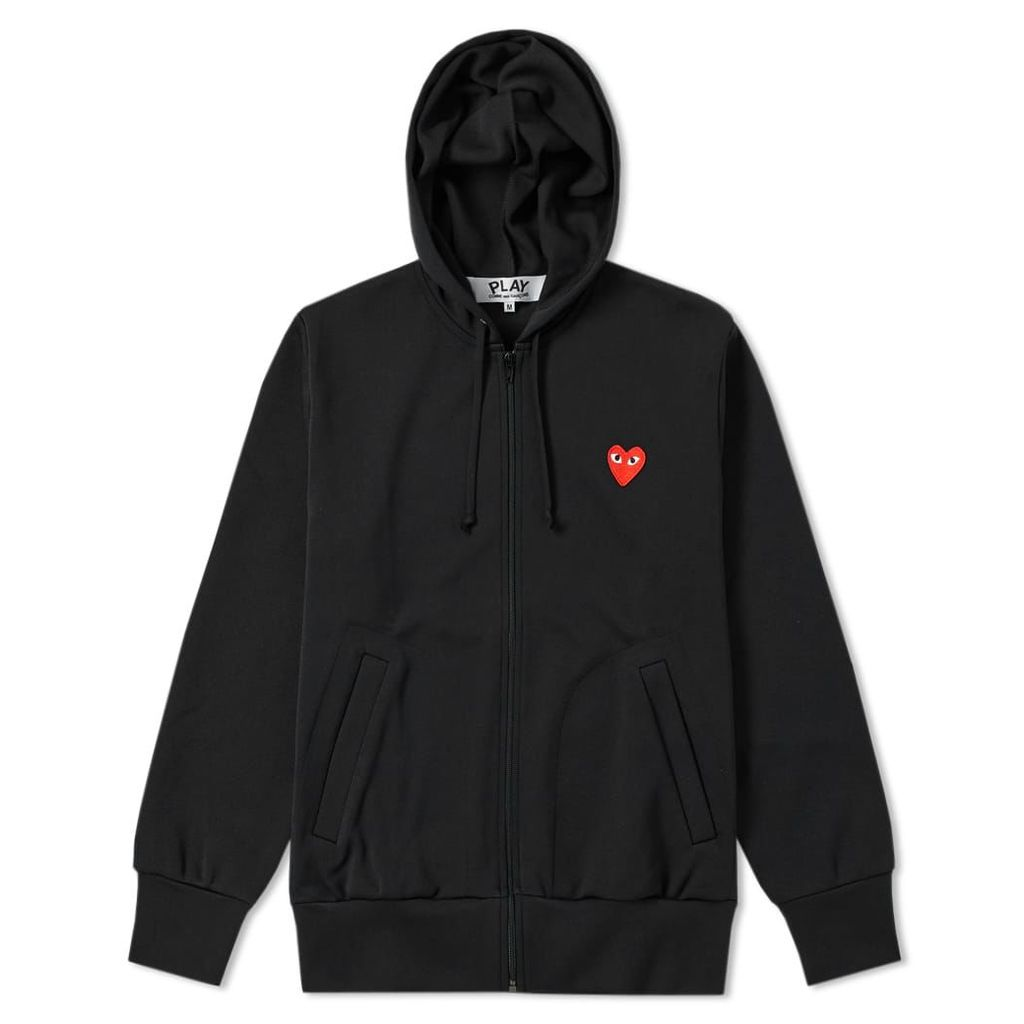 Comme des Garcons Play Full Zip Hoody Black & Red