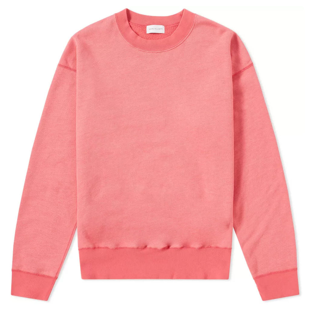 John Elliott Vintage Drop Shoulder Crew Sweat Washed Red