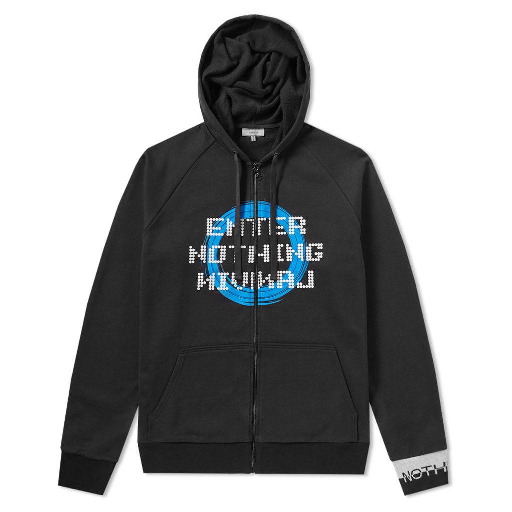 Lanvin Enter Nothing Zip Hoody Black