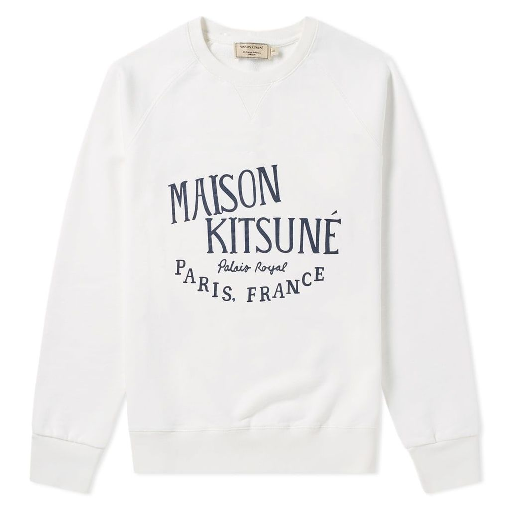 Maison Kitsuné Palais Royal Crew Sweat Latte