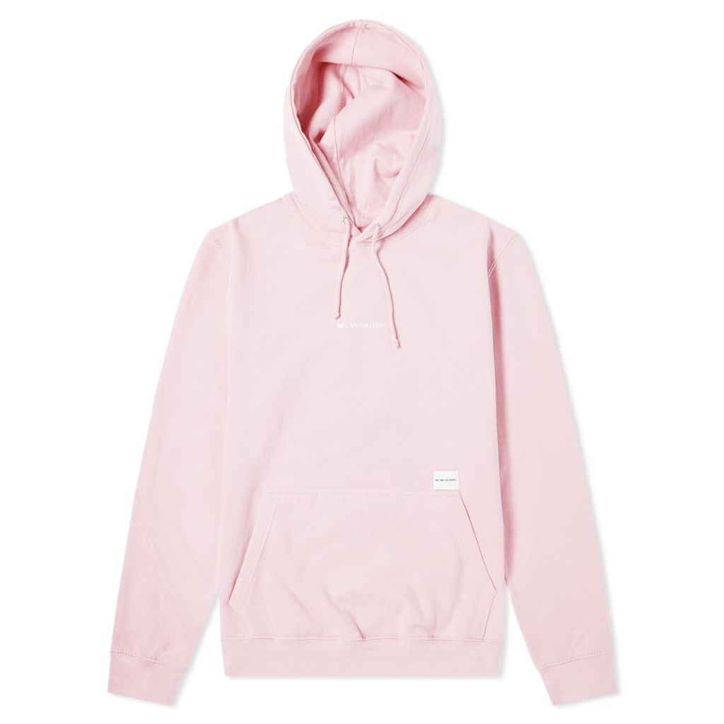 MKI Embroidered Logo Hoody Light Pink