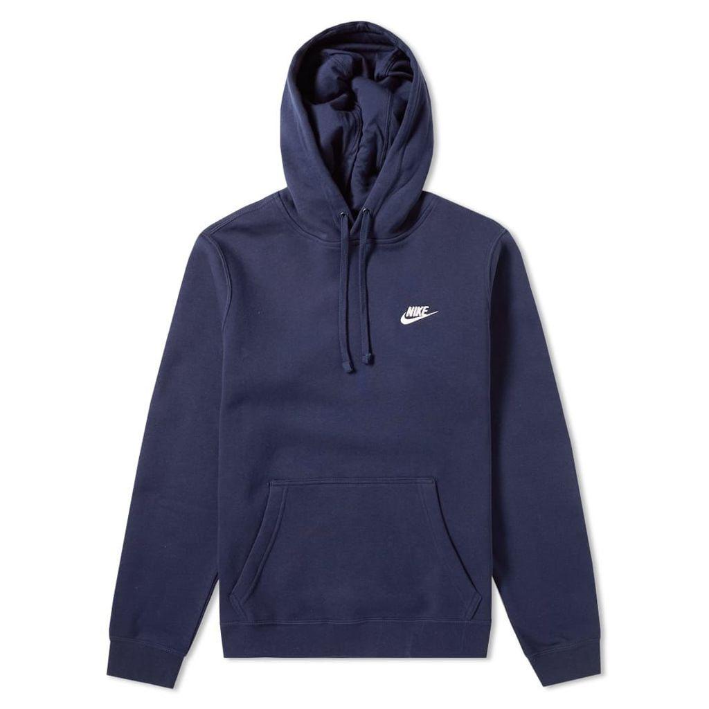 Nike Club Pullover Hoody Obsidian & White