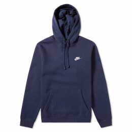 Nike Club Pullover Hoody Obsidian & White