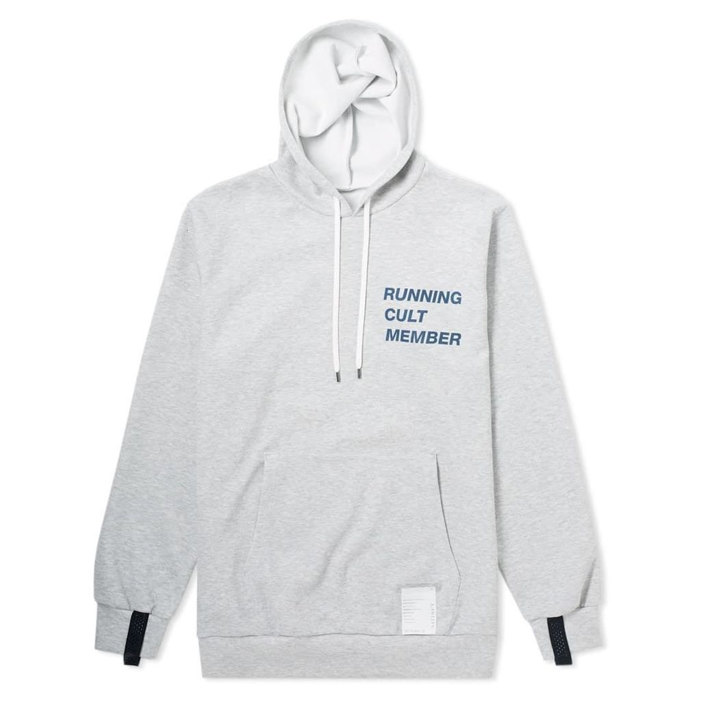 Satisfy Spacer Post Run Hoody Heather Grey