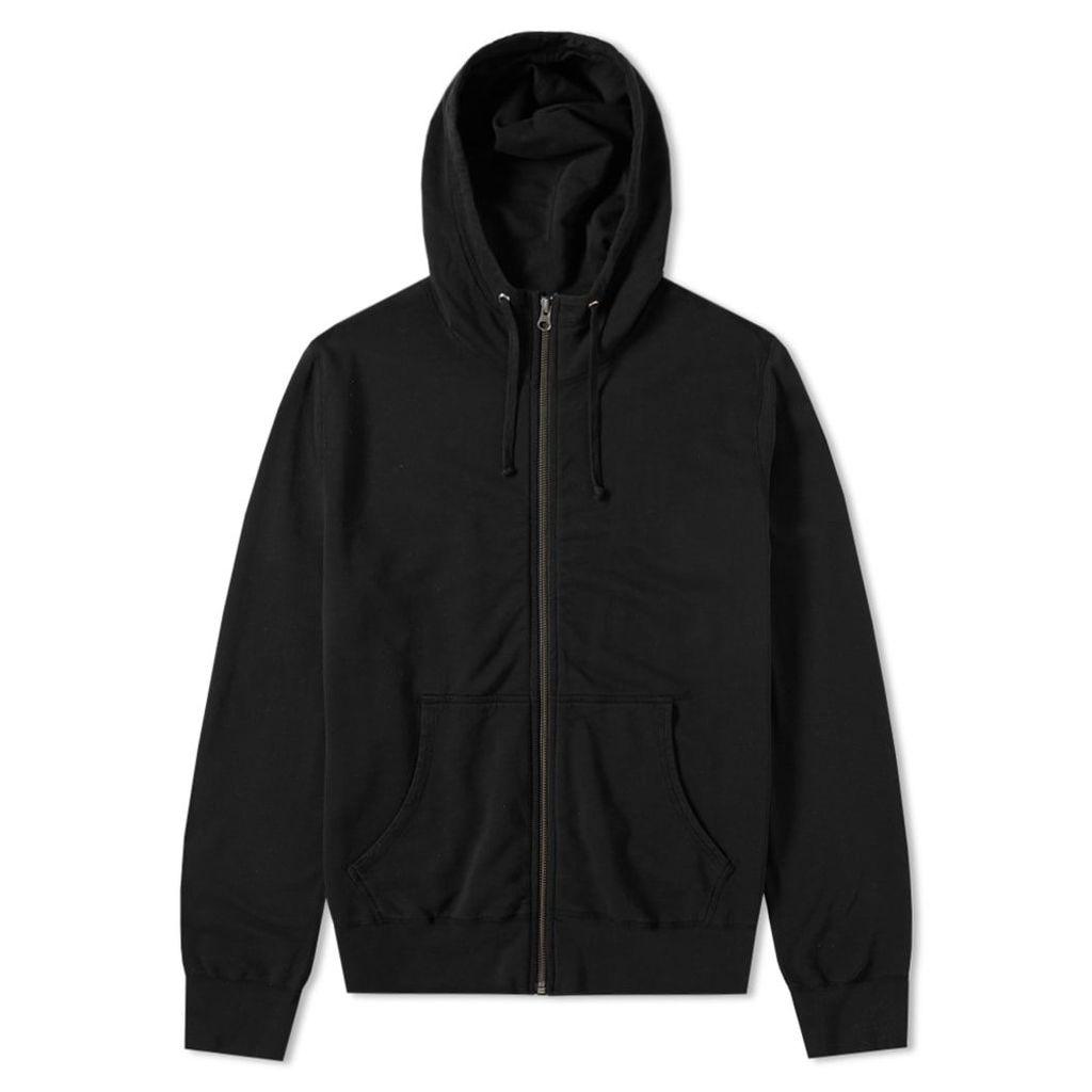 Save Khaki Supima Fleece Zip Hoody Black