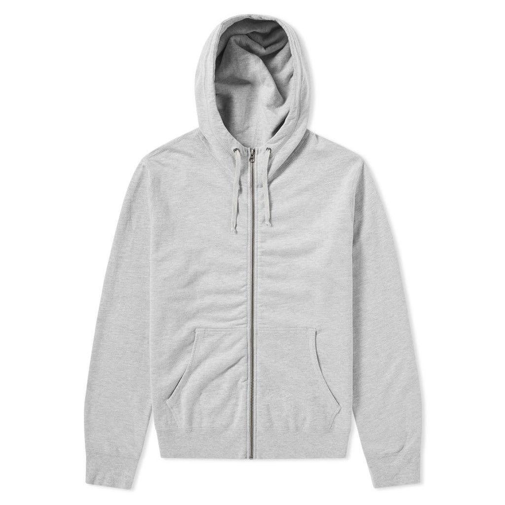 Save Khaki Fleece Zip Hoody Heather Grey