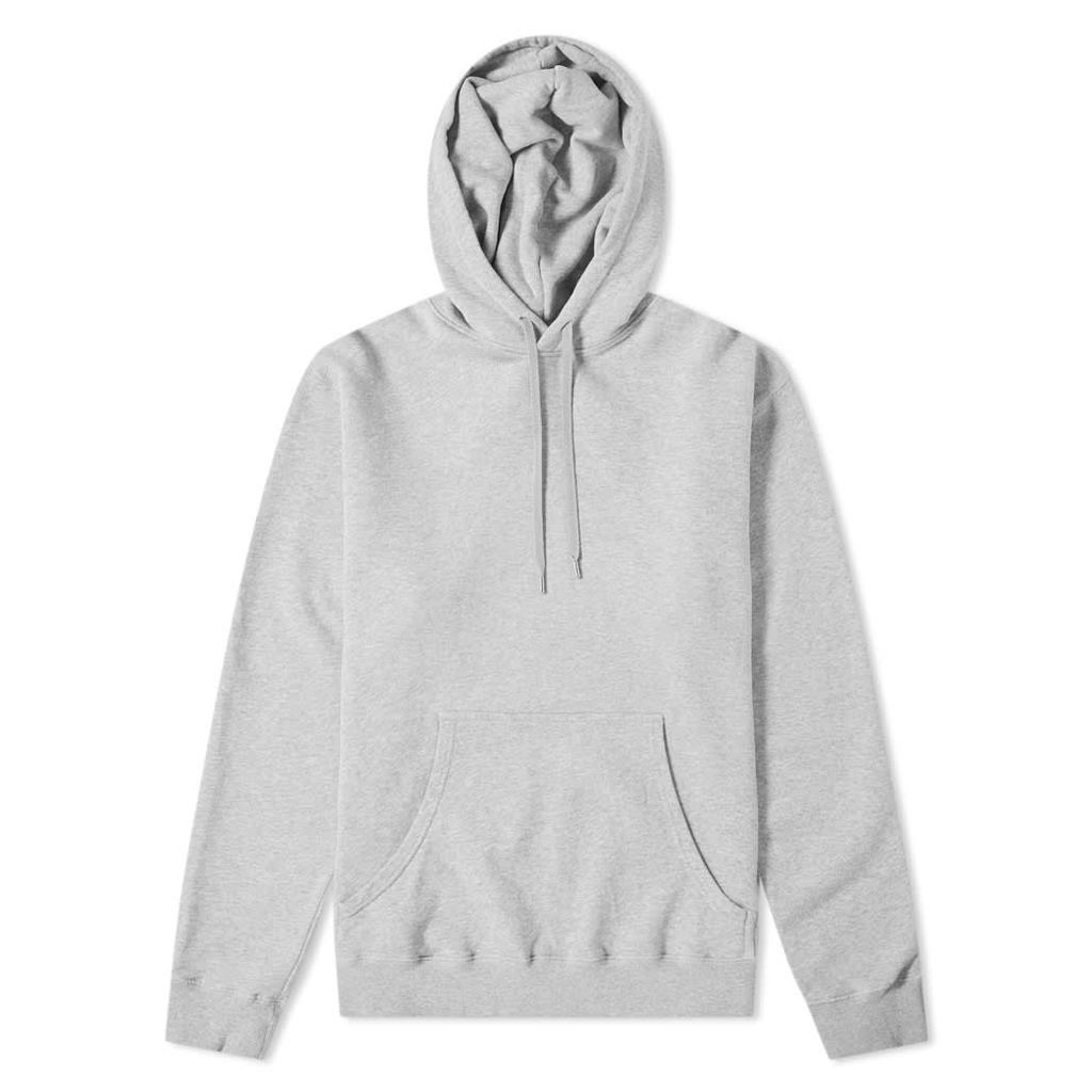 Sunspel Loopback Overhead Hoody Grey Melange