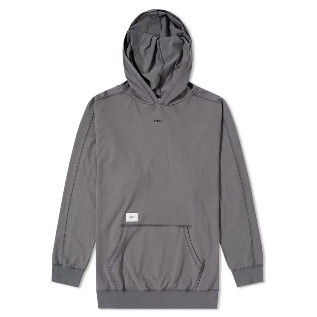 WTAPS Long Sleeve Hooded Tee Charcoal