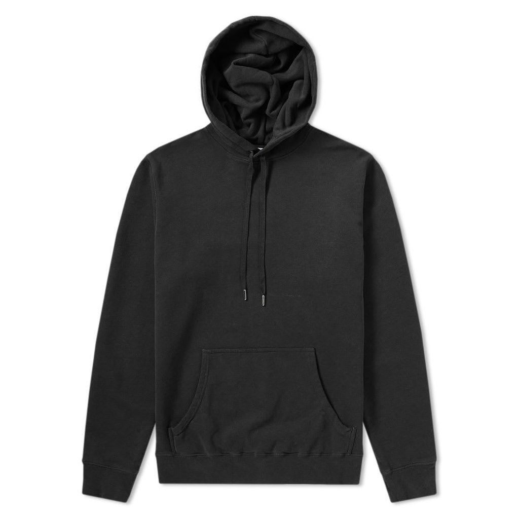 Sunspel Loopback Overhead Hoody Black