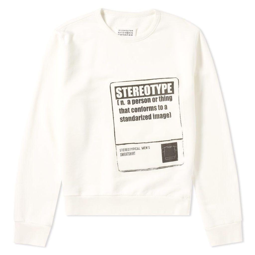 Maison Margiela 14 Stereotype Crew Sweat Off White