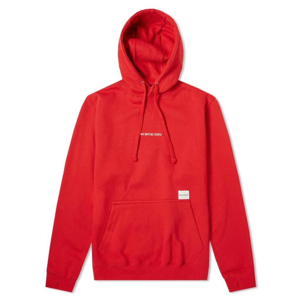 MKI Embroidered Logo Hoody Red & White