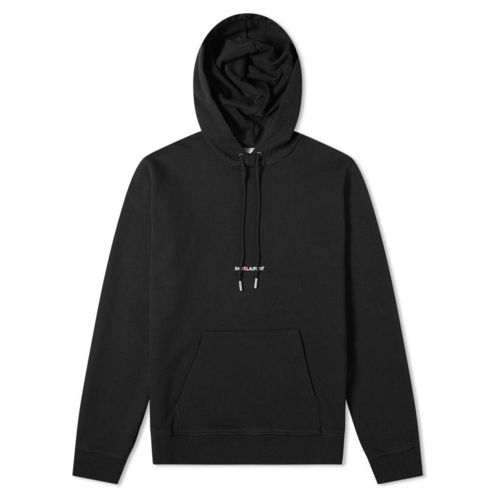 Saint Laurent Archive Logo Hoody Black