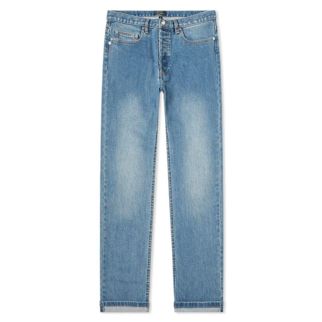 A.P.C. New Standard Jean Washed Indigo