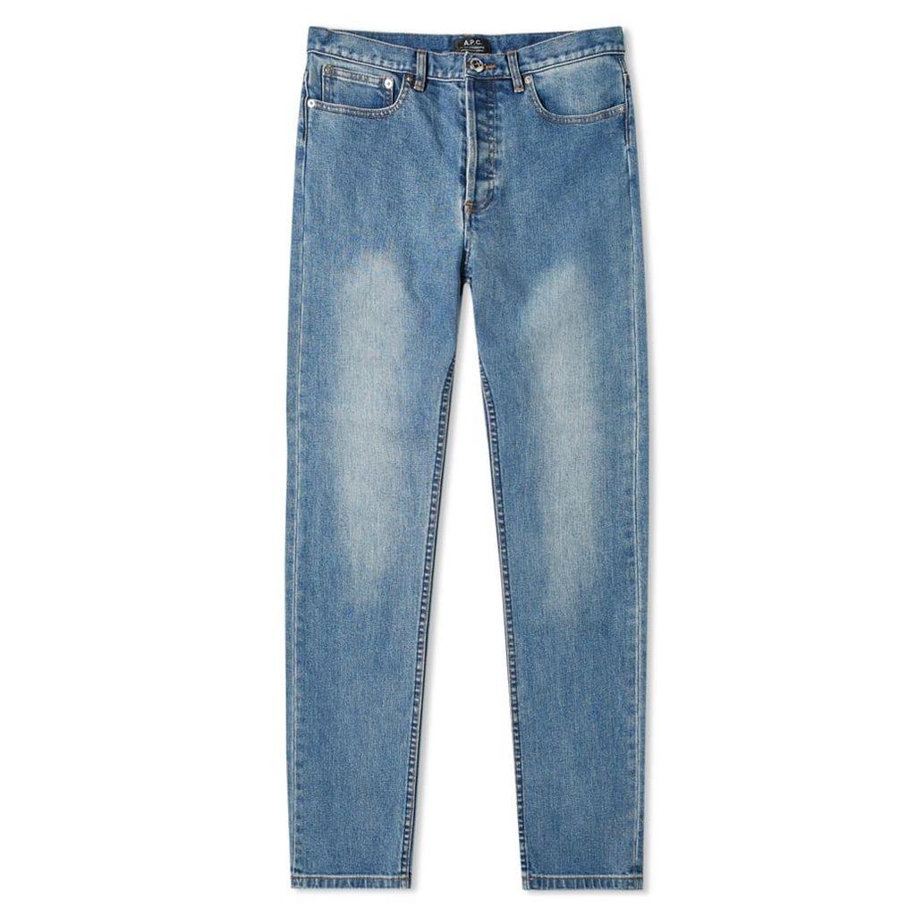 A.P.C. Petit Standard Jean Washed Indigo Stretch