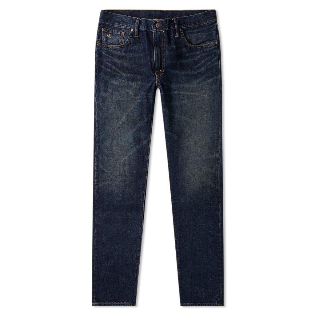 RRL Slim Narrow Jean Grant Wash