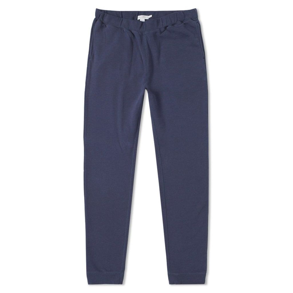 Sunspel Loopback Sweat Pant Navy Melange