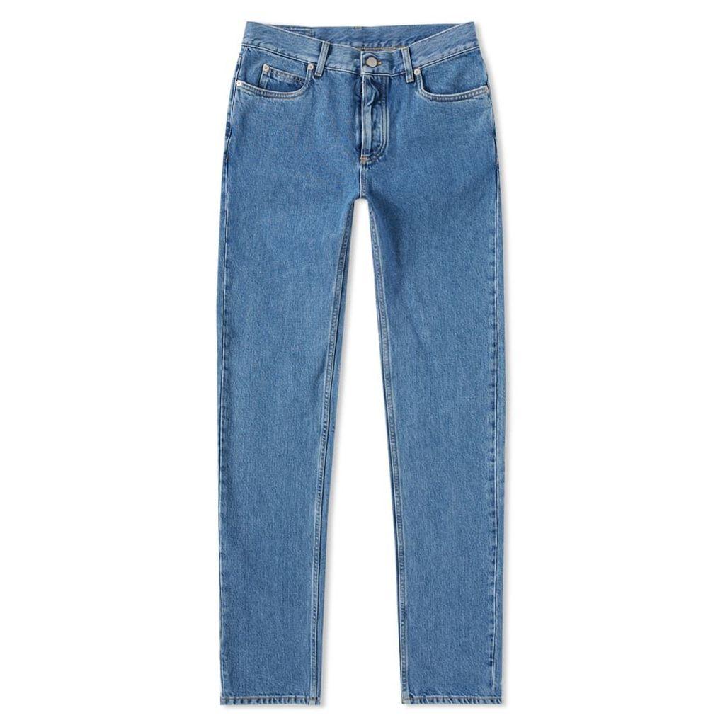 Maison Margiela 10 Slim Cut Out Pocket Jean Light Indigo