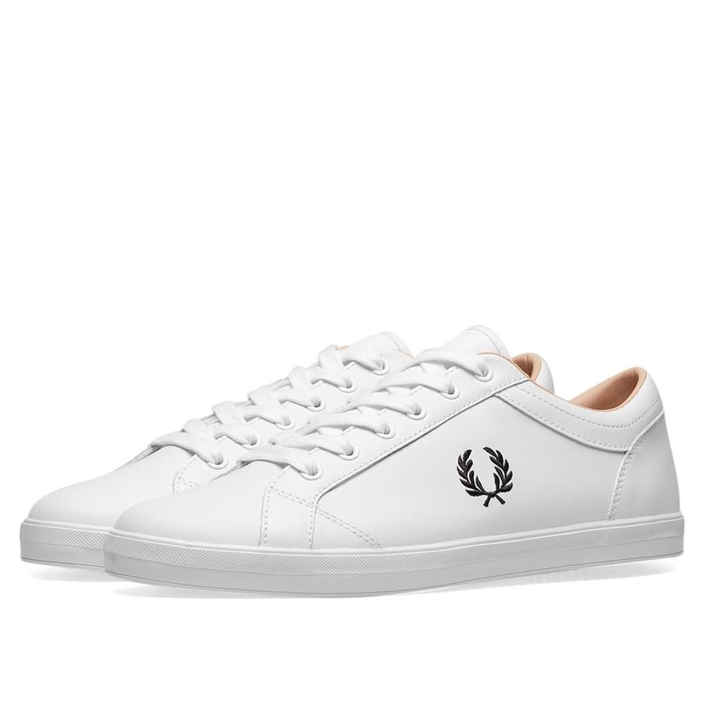 Fred Perry Baseline Leather Sneaker White & Black