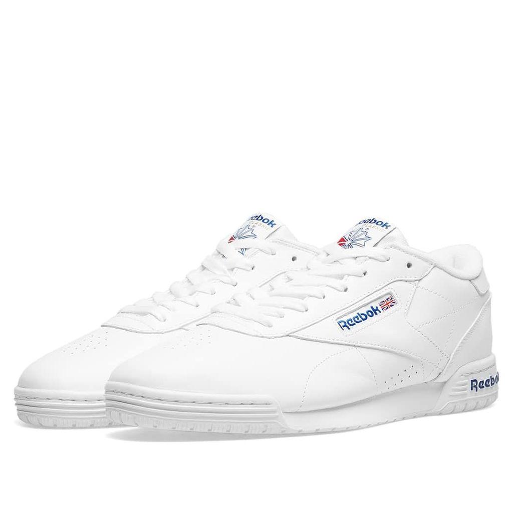 Reebok Ex-O-Fit Clean Logo Int White & Royal Blue