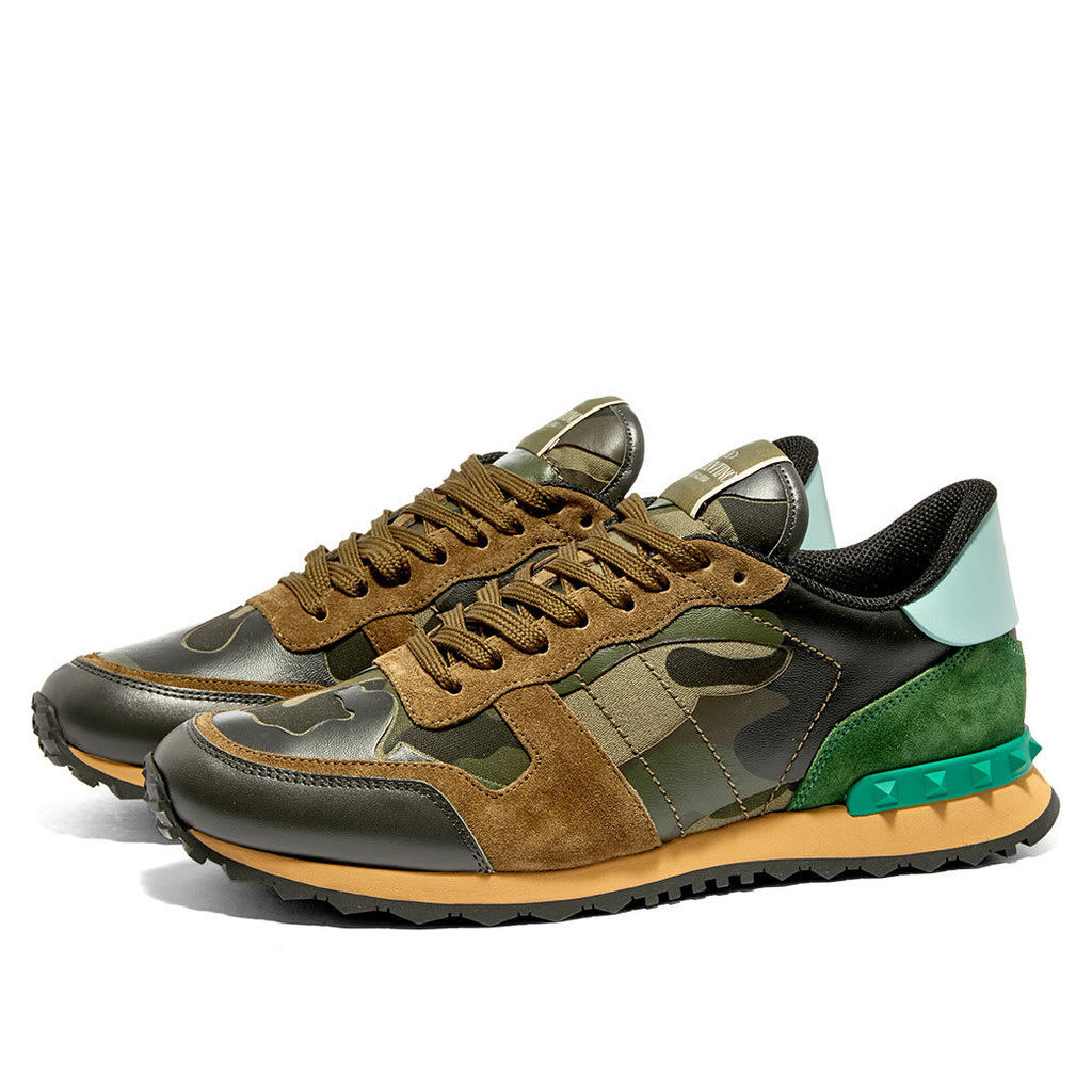Valentino Rockrunner Sneaker Army Green & Brushwood Camo