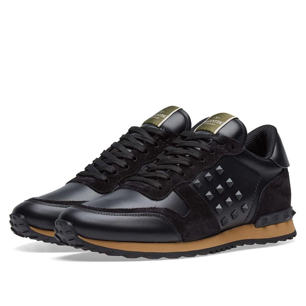 Valentino Tonal Rockrunner Sneaker Black