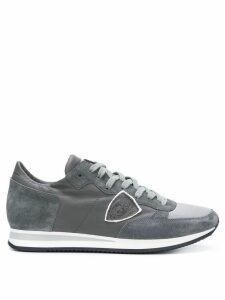 Philippe Model logo patch sneakers - Grey
