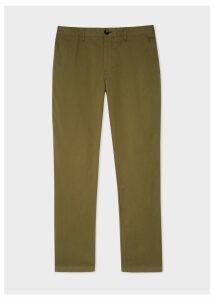 Men's Slim-Fit Khaki Stretch Pima-Cotton Chinos