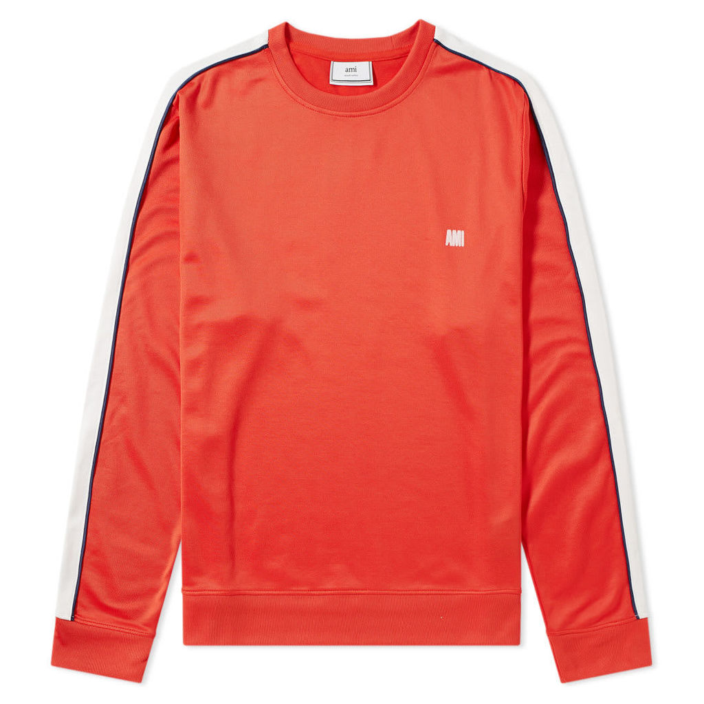 AMI Taped Sports Crew Sweat Red